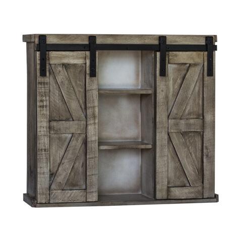 Barn Door Wall Cabinet