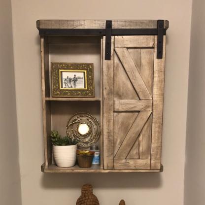 Single Door Barn Door Wall Cabinets Sand